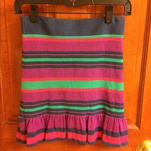 BCBG Max Azria striped mini skirt